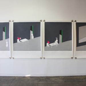 Untitled acrylic on paper 150x 122 cm, 2012
