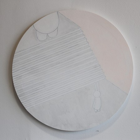 Untitled  acrylic on fabric, 60 x 60 cm, 2012