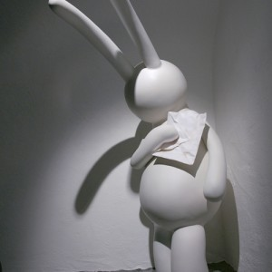 Petit lapin with a broken heart  2010, Photo by Wonseok Jung