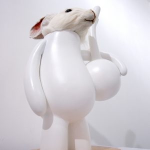 PETIT LAPIN OF PETIT LAPIN / clay, specimen & wood / 42 x 27 x 18cm / 2010 / Photo by Wonseok Jung