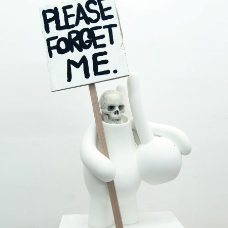 PLEASE FORGET ME / fiberglass, resin, paper & wood / 73 x 23 x 28cm / 2012